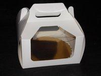 Pudełka koszyczki z okienkiem rozm. 22x22x11 - zdjęcie