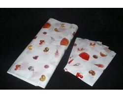 Torebki fałdowe, papier, papier z nadrukiem, torebki z nadrukiem, torebki do cukierni - zdjęcie