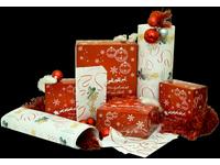 Pudełka świąteczne czerwone 'Renifer' - zdjęcie