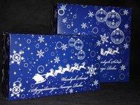 Pudełka świąteczne niebieskie 'Renifer' - zdjęcie
