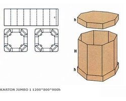Karton JUMBO 1 1200x800x900h - zdjęcie
