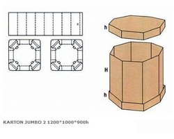 Karton JUMBO 2 1200x1000x900h - zdjęcie
