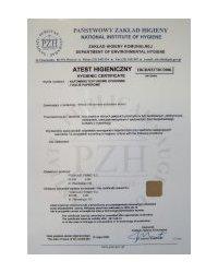 Certyfikat zgodności z normą PN-CR 13695-1:2002 (U) - zdjęcie