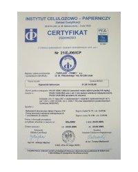 Certyfikat zgodności z normą PN-EN 13428:2002 - zdjęcie