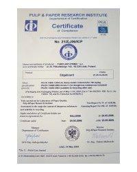 Certyfikat zgodności z normą PN-EN 13430:2002 - zdjęcie
