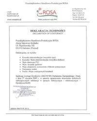 Deklaracja Zgodności Dyrektywy WE - zdjęcie
