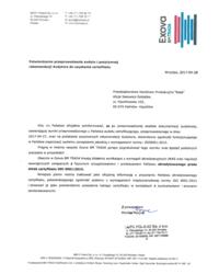 Potwierdzenie przyznania certyfikatu ISO 9001:2015 - zdjęcie