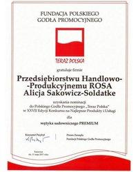 """Nominacja do Polskiego Godła Promocyjnego """"Teraz Polska"""" - zdjęcie"""