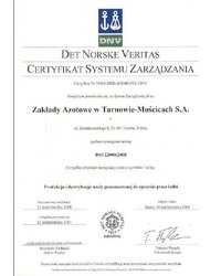 Certyfikat Systemu Zarządzania na zgodność z normą ISO 22000 : 2005 - zdjęcie