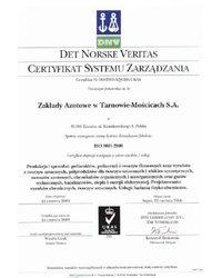 Certyfikat ISO 9001-2000 - zdjęcie