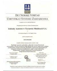 Certyfikat ISO14001- 2004 - zdjęcie