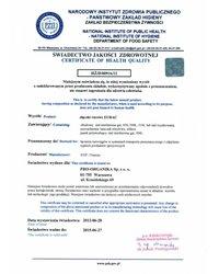 Świadectwo PZH na złączki rurowe EURAC (2012) - zdjęcie