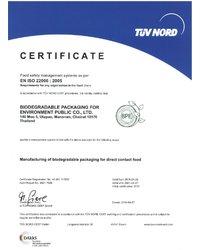 Certyfikat EN ISO 22000:2005 - zdjęcie