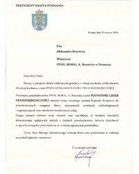 Gratulacje od Prezydenta Miasta Poznania - zdjęcie