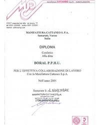 Dyplom manifattura Cattaneo S.P.A. - zdjęcie