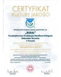 Certyfikat Kultury Jakości - zdjęcie