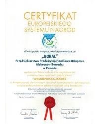 Certyfikat Europejskiego Systemu Nagród - zdjęcie