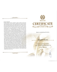 Certyfikat BPH - British Publishing House LTD - zdjęcie