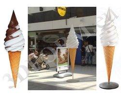 Makiety lodów - figura loda włoskiego 3DFORM - zdjęcie