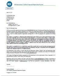 Certyfikat NSF dla TECHFORM Sil - zdjęcie