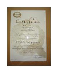 Certyfikat PN-EN ISO 9001-2001 - zdjęcie