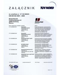 Załącznik do certyfikaty DIN EN ISO 9001:2008 - zdjęcie