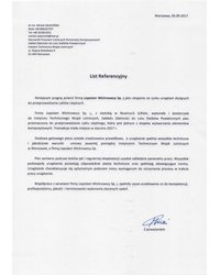 List referencyjny Instytutu Technicznego Wojsk Lotniczych - zdjęcie