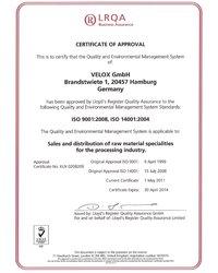 Certyfikat ISO - zdjęcie