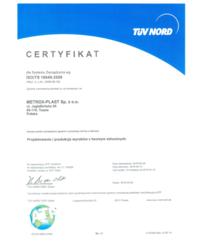 Certyfikat EN ISO 16949:2009 - zdjęcie