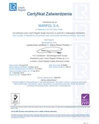 Certyfikat Zatwierdzenia: Poziom certyfikacji AA dotyczy obszaru Produktu 5,7 - zdjęcie