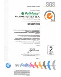 Certyfikat ISO 9001: 2008 - zdjęcie