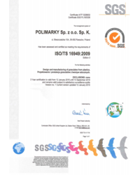 Certyfikat ISO/TS 16949:2009 - zdjęcie