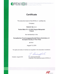Certyfikat EFDS - zdjęcie