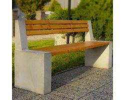 Ławka parkowa betonowa - zdjęcie