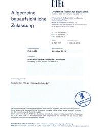 Certyfikat DIBt - zdjęcie