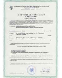 Certyfikat typu - moduł B - zdjęcie