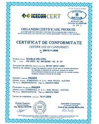 Certyfikat SR EN 12810-1:2004 - zdjęcie