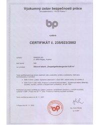 Certyfikat c. 235/023/2002 - zdjęcie
