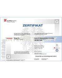 Certyfikat OEQS: System zarządzania jakością wg. ISO 9001:2008 - zdjęcie