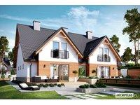 Projekty domów w zabudowie bliźniaczej - zdjęcie