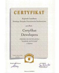 Certyfikat Dewelopera - zdjęcie