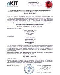 Certyfikat PLEWA - zdjęcie
