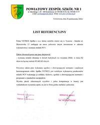 Referencje - Powiatowy Zespół Szkół nr 1 (2005) - zdjęcie