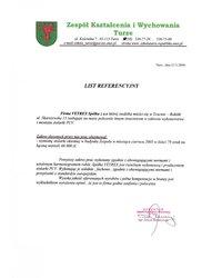 Referencje - Zespół Kształcenia i Wychowania Turze (2005) - zdjęcie