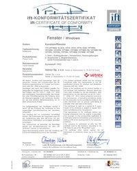 Certyfikat IFT Rosenheim - Softline, Efectline, Perfectline (2010) - zdjęcie