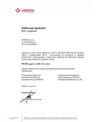 Deklaracja zgodności - Veka Efectline (2011) - zdjęcie