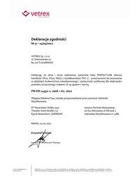 """Certyfikat zgodności okucia""""R- U+R"""" ROTO NT o zwiększonej odporności na włamanie (2011) - zdjęcie"""