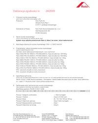 Deklaracja Zgodności okucia uchylno-przesuwne Patio S, Patio Z do okien i drzwi balkonowych (2009) - zdjęcie