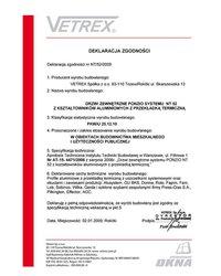 Deklaracja zgodności drzwi zewnętrzne NT/52/2009 (2009) - zdjęcie