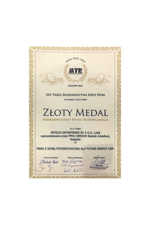 Złoty Medal Podkarpackiego Rynku Budowlanego - zdjęcie